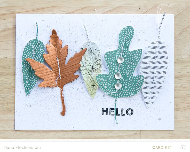 """Handmade fall card just to say """"hello"""" made by @pixnglue"""