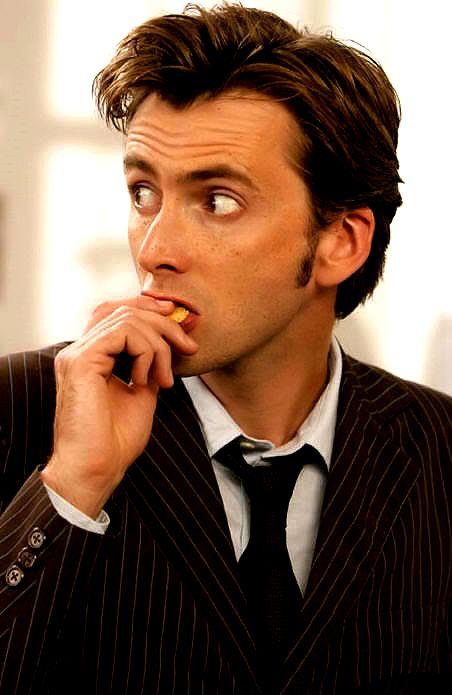 David Tennant Licking Things.