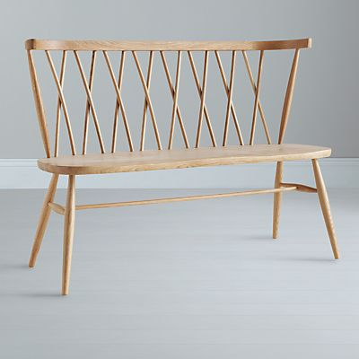 Bench. ercol for John Lewis. Chiltern 3-Seater Dining Bench.