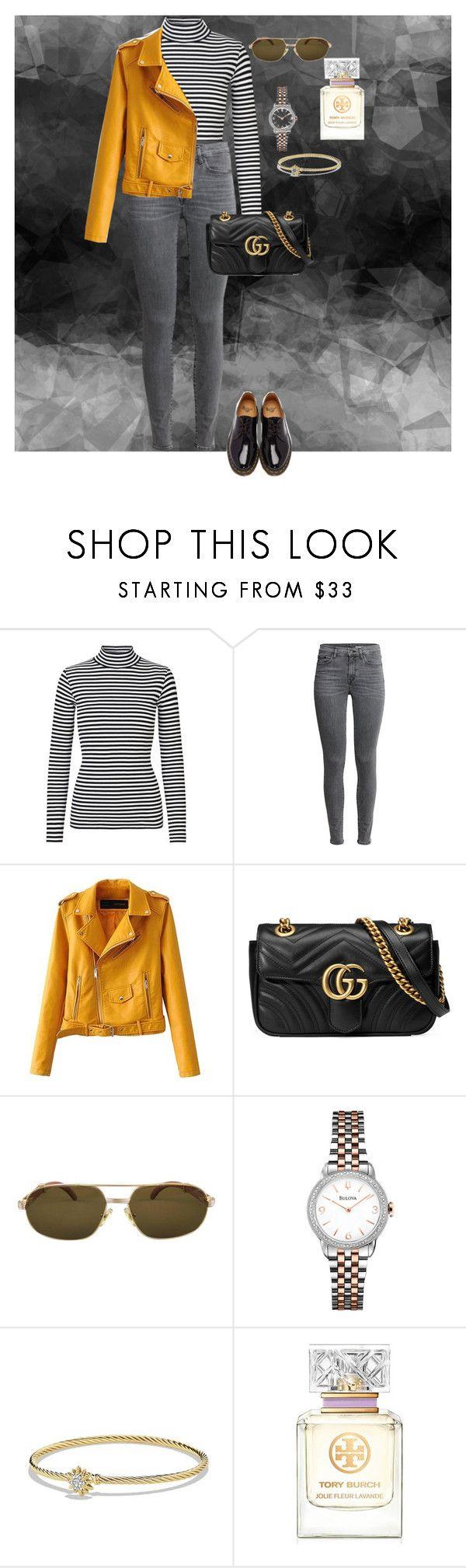 """#375"" by elana-favella-gatoni ❤ liked on Polyvore featuring Gucci, Cartier, Bulova, David Yurman, Tory Burch and Dr. Martens"