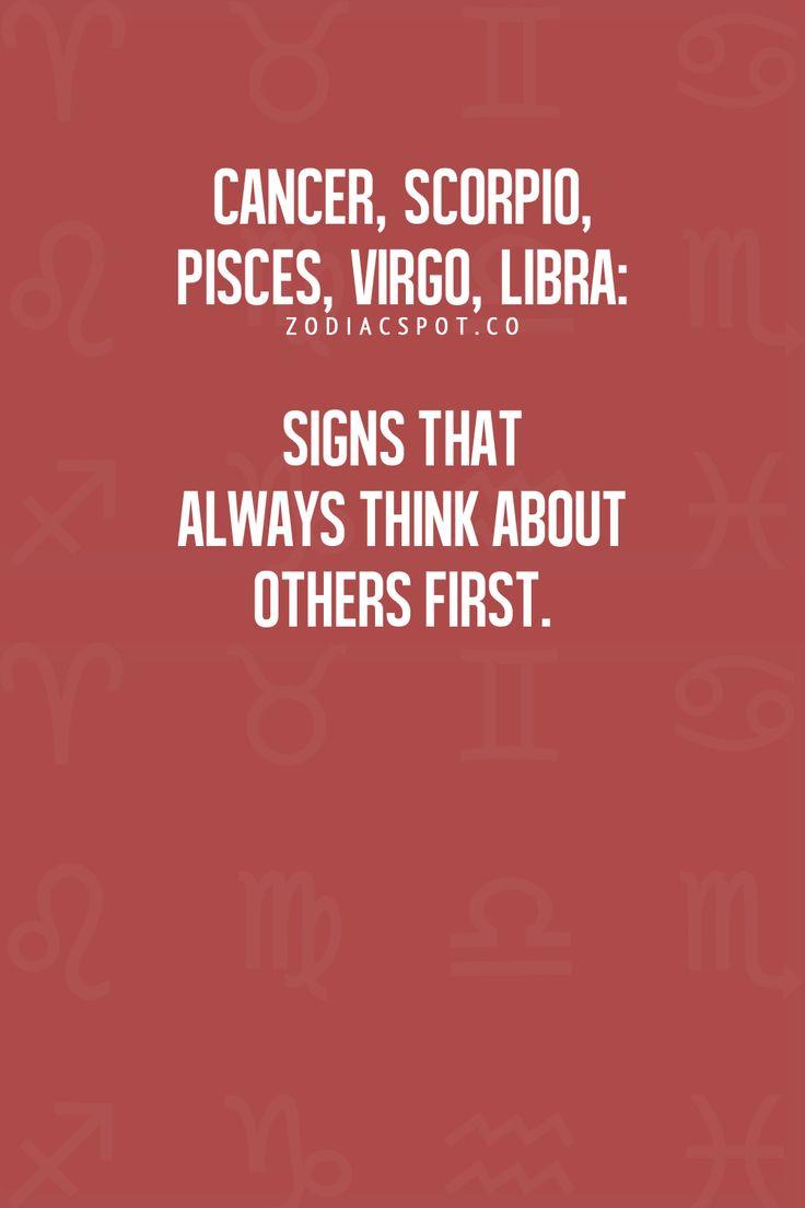 Cancer Zodiac Sign ♋, Scorpio, Pisces, Virgo, Libra