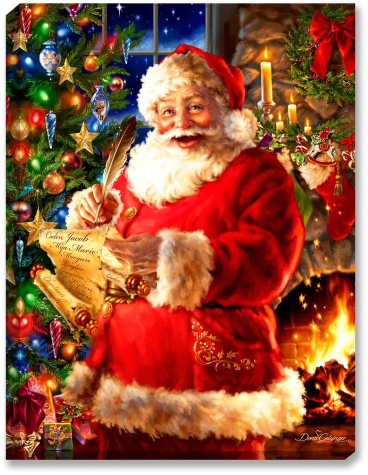 504 best santa images on pinterest father christmas for Santa cards pinterest