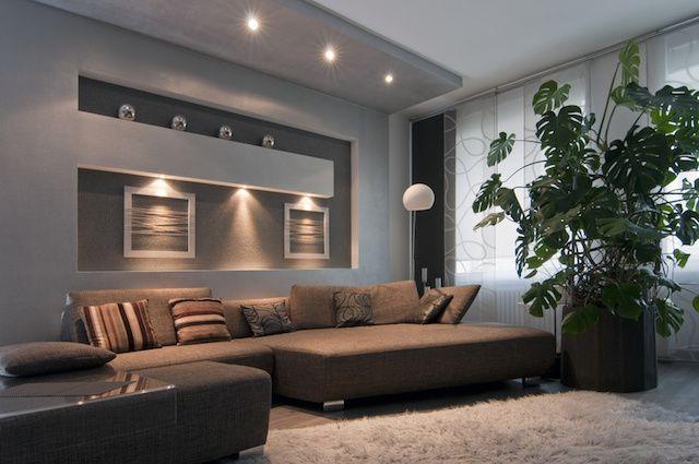indirekte beleuchtung ideen modernes wohnzimmer dekokissen - verblender wohnzimmer grau