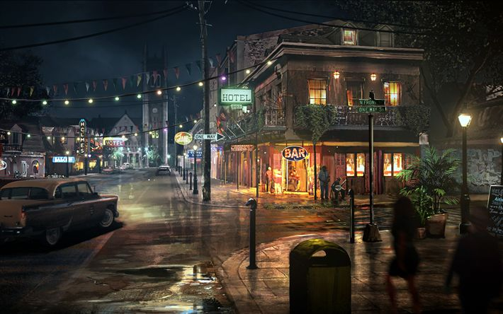 Download wallpapers Mafia 3, 4k, 2K Games, art, Mafia III