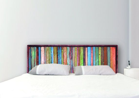 painted wood headboard queen