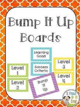 This Bump It Up Board header set is a strategy used to increase student performance. It can be applied to any subject level. Students work is compared against a Level 1 - Level 4 assessment scale. Students use this information to improve their work before submission to the teacher. This is a great self editing, proof reading and peer editing strategy. All headers in this set come in six different colour choices (blue, green, pink, purple, orange, yellow) to match your classroom decor…