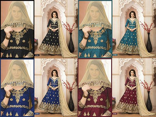 Indian Pakistani Anarkali Salwar Kameez Designer Suit Bollywood Dress AK ANYV #FashionBazar #Festive