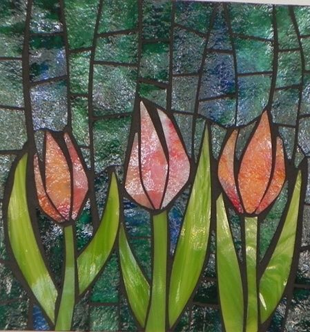 'Three Sisters' by Jean Loney  ~  Maplestone Gallery  ~  Contemporary Mosaic Art