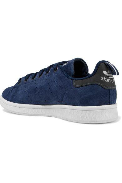 adidas Originals - Stan Smith Suede Sneakers - Storm blue - US8.5