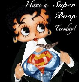 Betty Boop loves Tuesday!  She doesn't need a phone booth !!