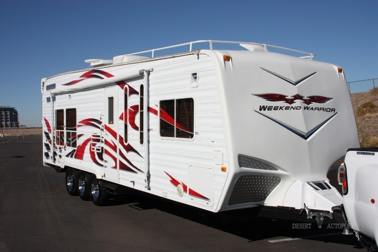 Weekend Warrior Toy Hauler Trailer Desert Life Hit The