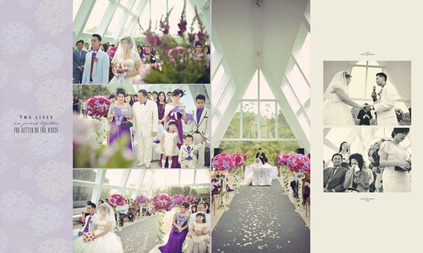 Wedding Day Album Design, photo by HOP, edit & design by Wenny Lee, via Behance