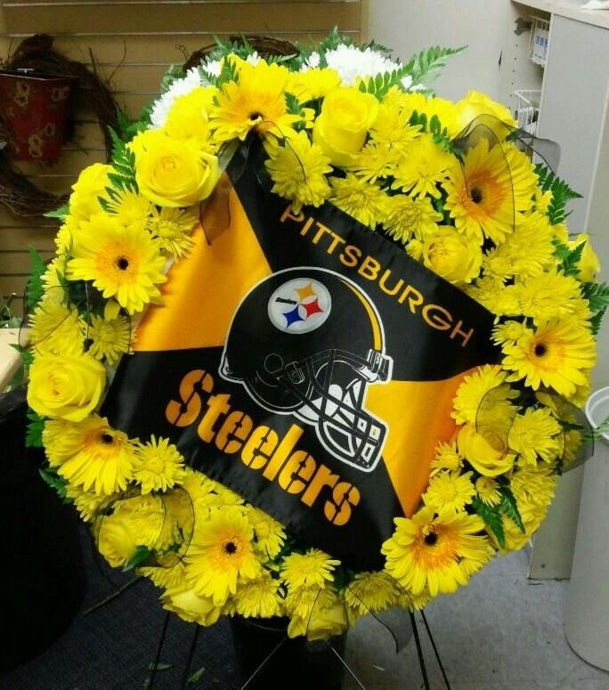 Pittsburgh Steelers Wreath Sympathy Arrangements