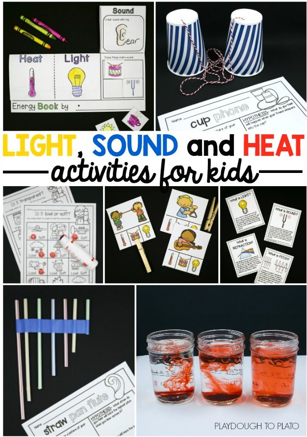 Bring light, sound and heat alive for kids! 10 hands-on and motivating science centers and activities. Perfect STEM projects for preschool, kindergarten or first grade.