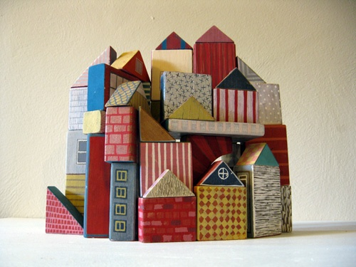Clay houses art