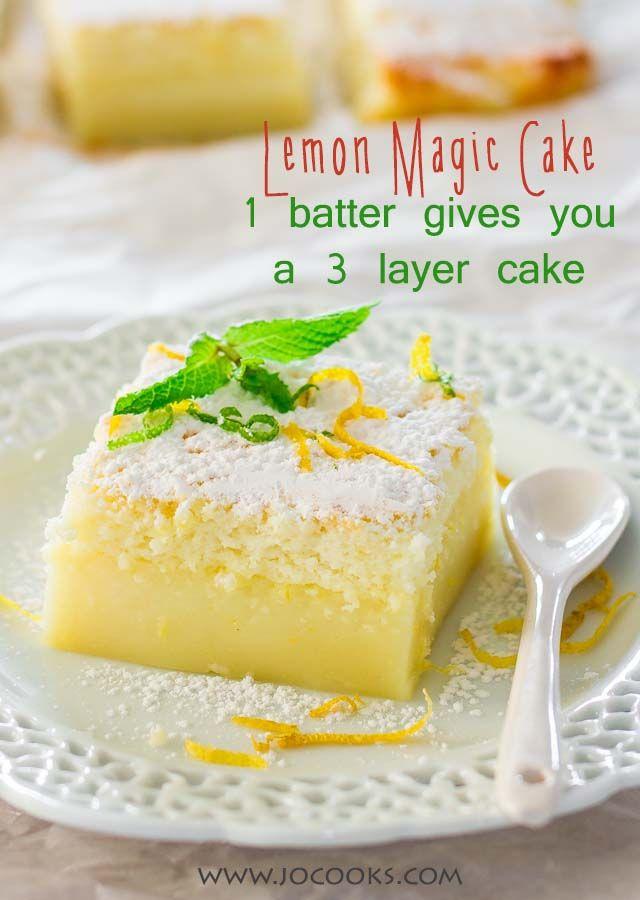 Lemon Magic Cake - moist, tart and delicious!