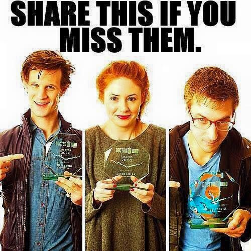 Oh we miss them too!  #DoctorWho