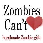 Handmade Gifts and art for Zombie Lovers <3 So many good Christmas gift ideas here....