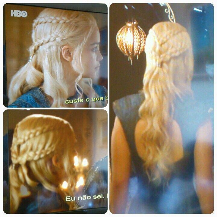 Solto com trança - Khaleesi Game of Thrones