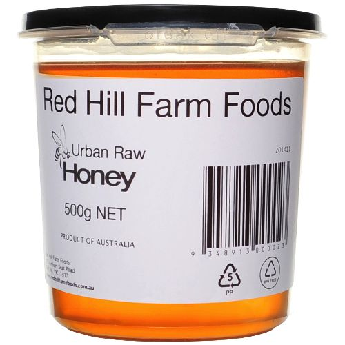 Urban Raw Honey 500gm Tub - Red Hill Farm Foods