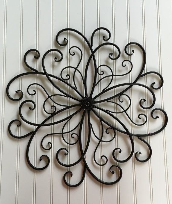 Tree Of Life Large Black Swirled Metal Wall Decor Hang Home Accent Wire Art Gift