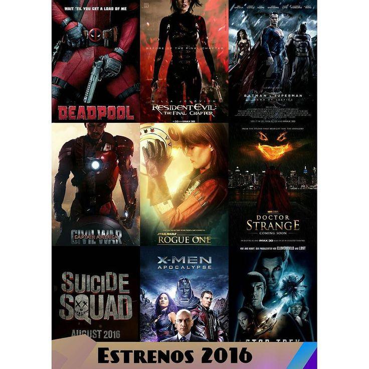#NotiCine Lista de los estrenos mas esperados del 2016  The Revenant - 05/02/2016  Zoolander 2- 12/02/2016  Deadpool - 19/02/2016  Divergente: Leal  Parte 1 - 11/03/2016  Batman v Superman: El amanecer de la Justicia- 23/03/2016  Gods of Egypt - 26/02/2016 (USA)  El Libro de la Selva - 15/04/2016  Capitán América: Guerra Civil (Civil War) 29/04/2016  X-Men: Apocalipsis- 27/05/2016  Warcraft- 3/06/2016  Tortugas Ninja 2 03/06/2016  The Conjuring 2: The Enfield Poltergeist 17/06/2016  Buscando…