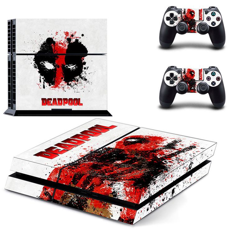 Deadpool Inspired PS4 Console and Controller Decal Protective Skins