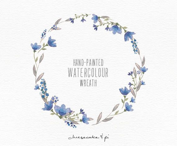 This elegant watercolor wreath is hand painted with love. It looks beautiful on wedding stationery, but of course is not limited to that. The