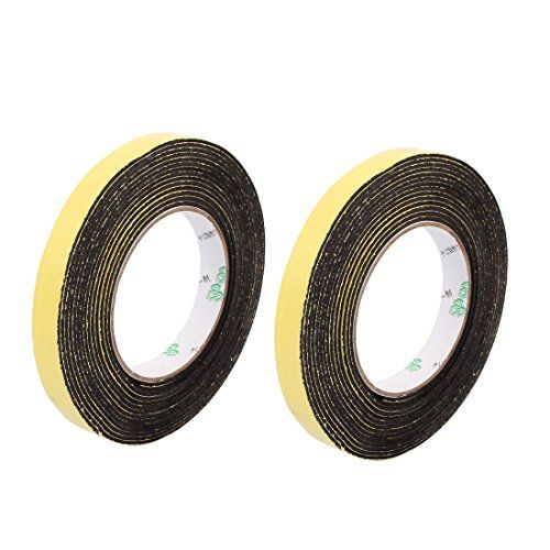 uxcell 2 Pcs 15 x 2mm Single Side Adhesive Shockproof Anti-noise Foam Tape 5M Length