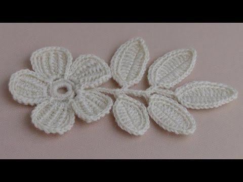 Вязание ЦВЕТКА. Урок вязания.Плоский цветок с лепестками тунисского вязания. - YouTube