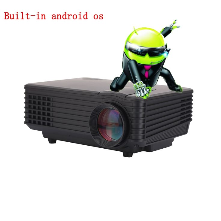 (152.08$)  Watch now - http://ai7ok.worlditems.win/all/product.php?id=32666595032 - 2016 Best LED Built-in WiFi 3D HD Home Theater Projector Mini Portable Support HDMI USB Video LCD 800*480  Beamer Projetor