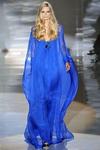 Cobalt blue Gucci dress.