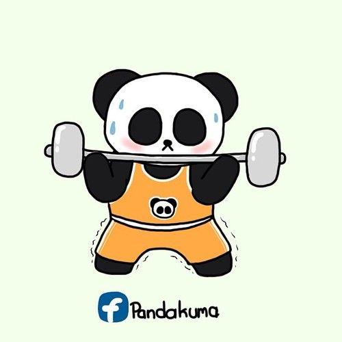 Panda Weightlifter 胖達素材 In 2019 Panda Panda Bear Panda Craft