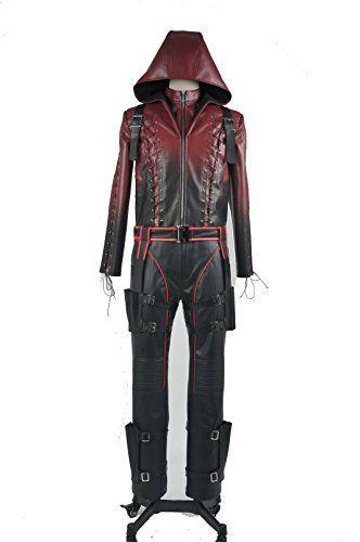 Buy Green Arrow Season 3 Roy Harper Arsenal Red Arrow Cosplay Costume  **    Green Arrow Season 3 Roy Harper Arsenal Red Arrow Cosplay Costume** **    Fabric: Artificial Leather** **    Including: Top Suit+Pants+Quiver+Straps+Dagger Sheaths+Belt+Gloves+Eye-patch** **    If custom-made,please send us your measurement like weight,height,waist,chest,hip,arm length,inseam.then we can make it all as your measurement (In inches)** **    Shipping service:ups or dhl 3-4 working days**  Buy From…