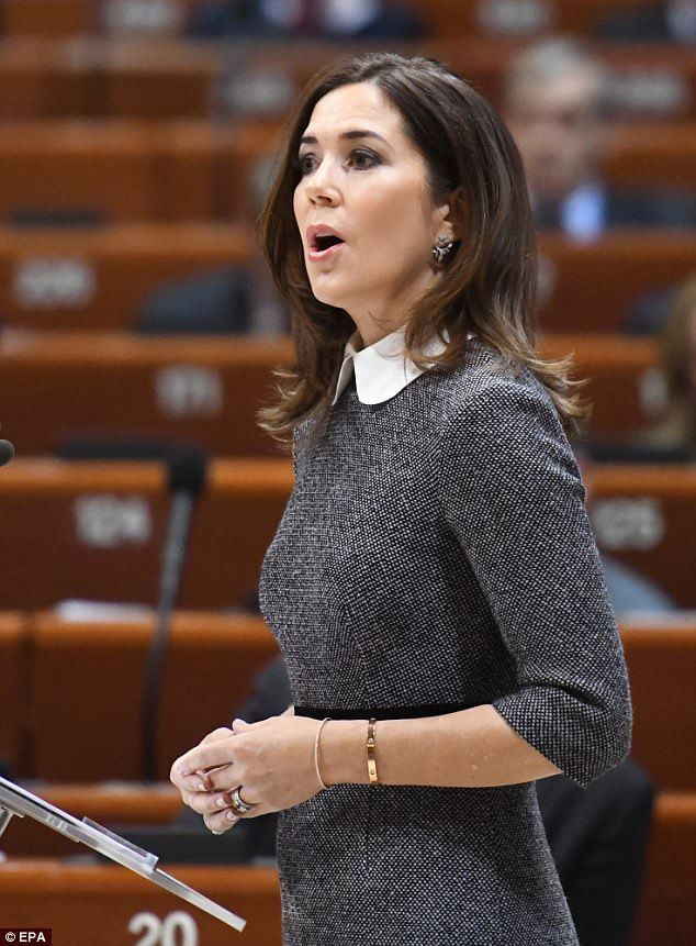Soon after her arrival in Strasbourg, Mary participated in a number of meetings before addressing the Council of Europe Parliamentary Assembly, which is under Danish presidency until May 2018