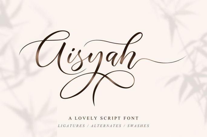 Aisyah Lovely Script Font Free Download   Free Script Fonts