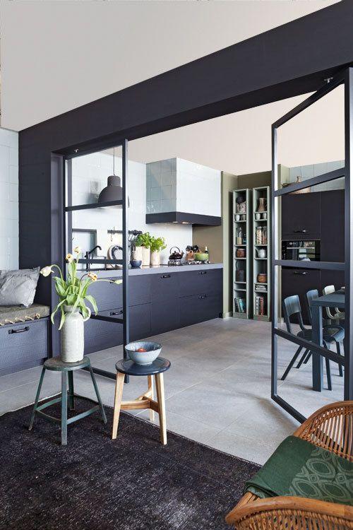 NIEUW! De vtwonen keuken // glazen deuren tussen woon en keuken deel