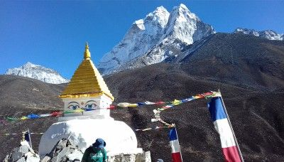 Buddhist Culture adventure view, Adventure Trek to Everest Base Camp Nepal
