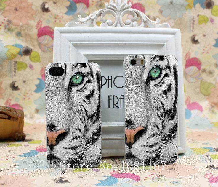 Король од дерева черно-белый узор тигр Жесткий Чистая Кожа Чехол для iPhone 4 4s 7 7 Плюс 5 5S 5 г 1 ШТ.