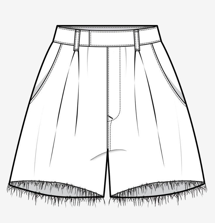 для рисунок шорты сзади родственником
