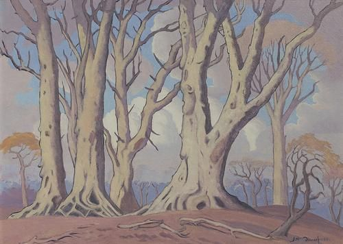 JH Pierneef - Trees and Clouds, 1950