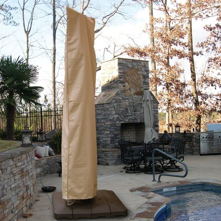 Sure Fit Hearth U0026 Garden Offset Umbrella Cover (Offset Ubmrella, Taupe  (Brown)) (Polyester) #130965682 SF40239, Patio Furniture