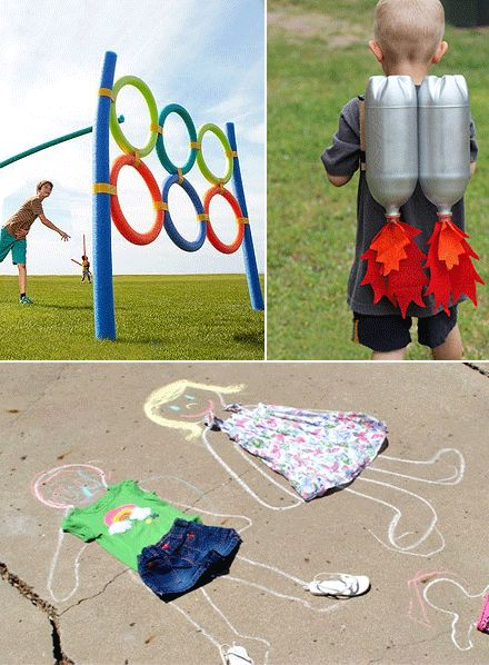 The school holidays are upon us so I've been exploring some fun, simple and inexpensive DIY ideas to liven up the back garden for Miss6. Every week I'm going to try posting on a different Summer Holiday theme – outdoor crafts, rainy day crafts, bubble games and more… so make sure to follow and share :) Ideas and credits on http://mollymoo.ie/2012/06/summer-holidays-garden-games/
