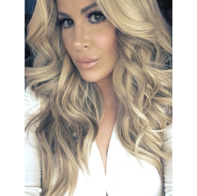 Kim Zolciak is the Queen of Weave and the Lenox from New York Strands is the exact type of wig she wears. www.newyorkstrands.com