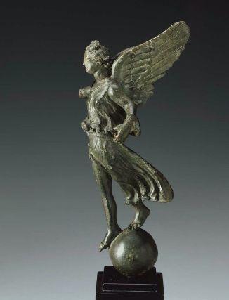 Winged Victory (Nike), Roman statuette (bronze), 1st century BC - 1st century AD, (Museum of Fine Arts, Boston).