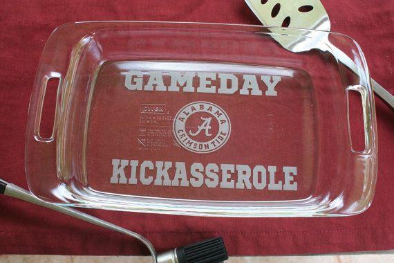 Gameday Kickasserole Tailgate Dish     ANY TEAM  by UnCorkdArt, $35.00