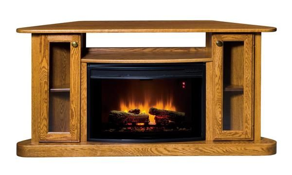 Amish Cozy Corner Glow LED Fireplace with Remote ...