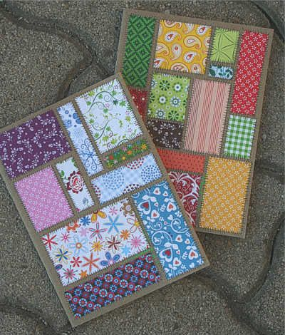 Patchwork cards... or tags... or favor bags