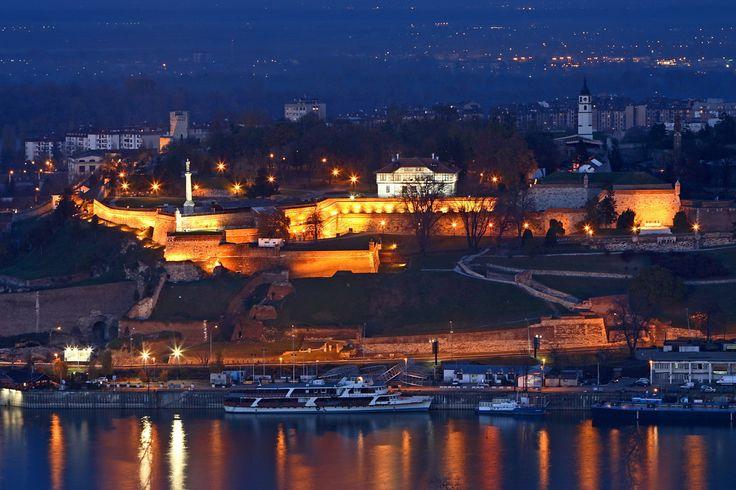 Belgrade Fortress by night