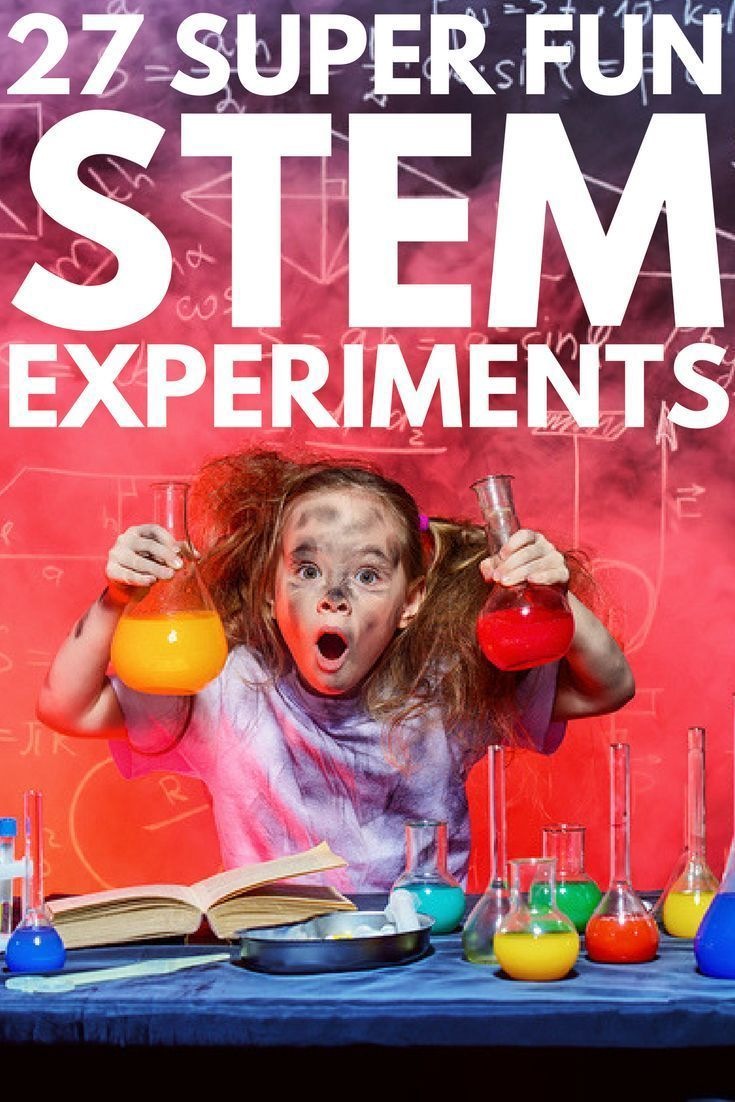 Looking for STEM experiments for kids to keep your little ones interested in learning? We've rounded up 27 fun activities to introduce your kids to physical science, technology, engineering, and math - both at home and in the classroom. From watching the chemical reactions between vinegar, baking soda, and other household items to offering hands-on ways to construct things, this collection of STEM activities is a teachers dream come true! #kidsactivities #kidsexperiments #learningactivities